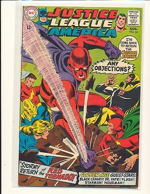 Justice League of America # 64 - 1st SA Red Tornado VF Cond.