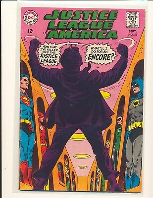 Justice League of America # 65 VG Cond. centerfold detached