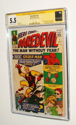 1964 Daredevil #1 Comic Book Signed By Stan Lee Cgc 5.5 Signature Series