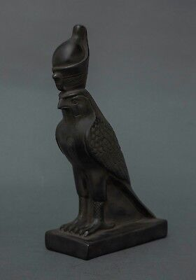 Ancient Egyptian Antiques Horus Falcon Goddess Egypt God Statue Carved Stone BCE