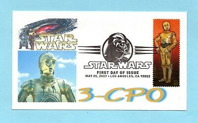 U.s. Fdc #4143 C-3P0 From The 30Th Anniversary Star Wars