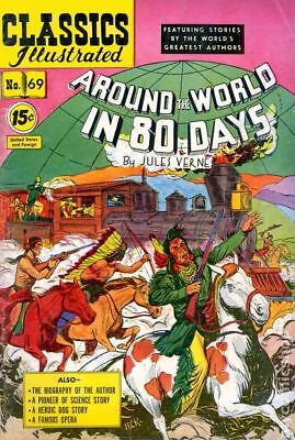 Classics Illustrated 069 Around the World in 80 Days #3 1950 GD/VG 3.0 Low Grade