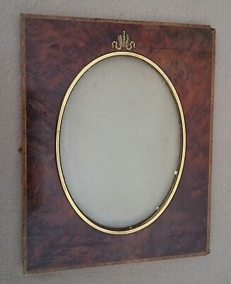 Antique Russian Royalty Imperial Romanov Wood Gold Photo Picture Frame Faberge?