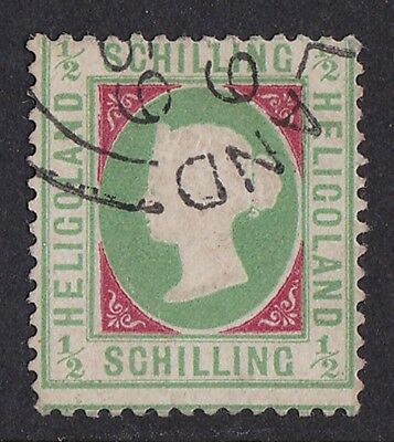 HELIGOLAND 1869 QV Embossed ½sch EXPERTISED