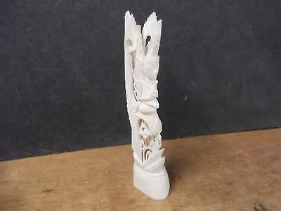 Fabulous Carved Bone Goddess Figurine--Intricate, Finely Detailed