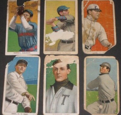 1909 T206 Piedmont Baseball Card Lot Antique Collectible Tobacco Trading Cards