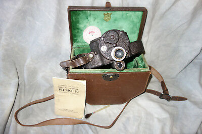 Vintage Bell & Howell FILMO AUTOMATIC Cine Camera 70A leather case MOVIE