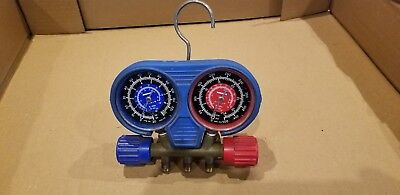 ROBINAIR R-134A / R-22 manifold with LOW HIGH SIDE GAUGES used