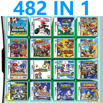 For Nintendo NDS NDSL 2DS 3DS NDSI 482 In 1 Video Game Cartridge Console Card