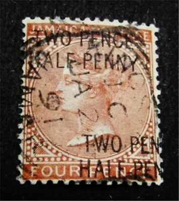 nystamps British Jamaica Stamp # 27b Used $250 Double OVPT Error