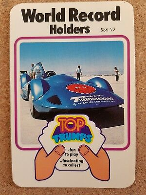 Top Trumps Single Card World Speed Record Holders Dubreq Issue - Various (FB3)