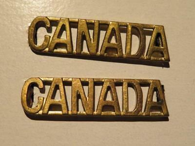 Canada WWI/CEF Pair of Brass Voided Shoulder Titles