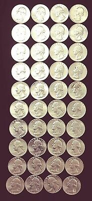 Roll of (40) 1961, Uncirculated, Silver Washington Quarters, $10.00 Face Value