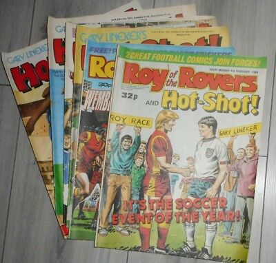 Lot Of Roy Of The Rovers /  Hot-Shot Comics , Inc 1St Combined , 1988 / 1989