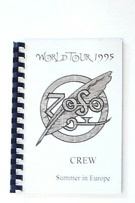 Rare Jimmy Page Robert Plant 1995 No Quarter Tour Itinerary Book - Led Zeppelin