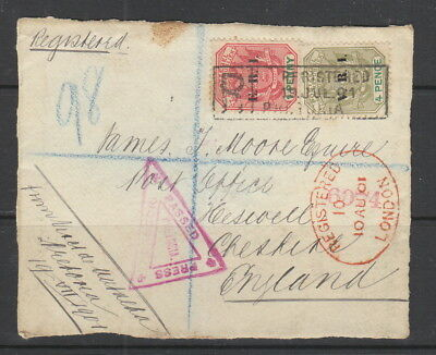 Transvaal 1901 front to England with censor