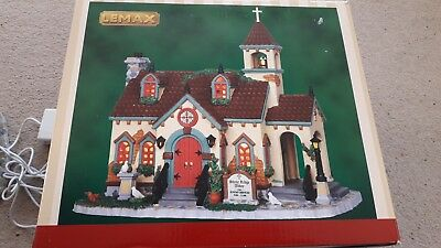 lemax christmas village - church - boxed ex condition