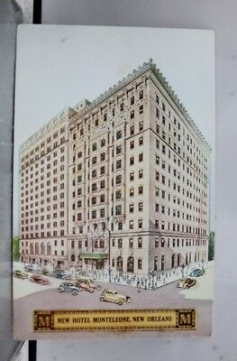Louisiana LA New Orleans Hotel Monteleone Postcard Old Vintage Card View Post PC