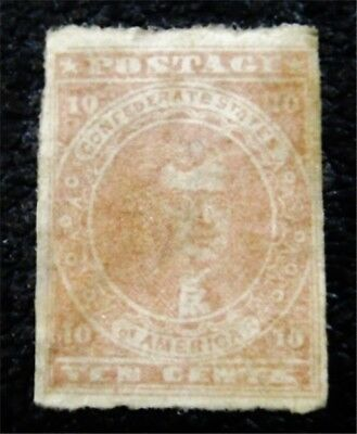 nystamps US CSA Confederate Stamp # 5 Mint $1750