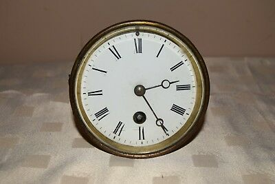 Antique French Mantle Clock Movement with glass.