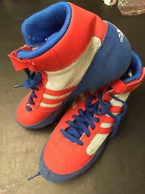 Boxing Boots Addidas Uk 5 Blue Red & Grey