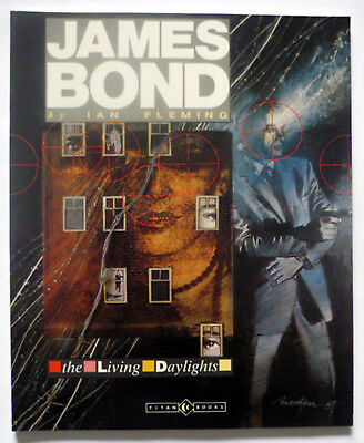 IAN FLEMING - JAMES BOND - THE LIVING DAYLIGHTS - TitanGraphicNovel 1987 UK 1st