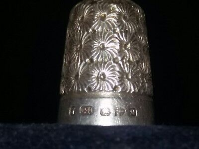ANTIQUE SILVER THIMBLE CHARLES HORNER Q HALLMARKED CHESTER Size 7