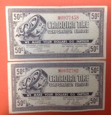 50c Canadian Tire CTC-G07 Lot Of 2 Free Combined Shipping ac21