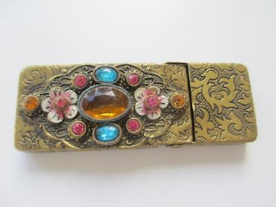 Small Vintage Deco Jewelled Case