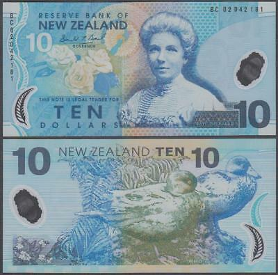(20)02 Reserve Bank of New Zealand Polymer 10 Dollars (CU)