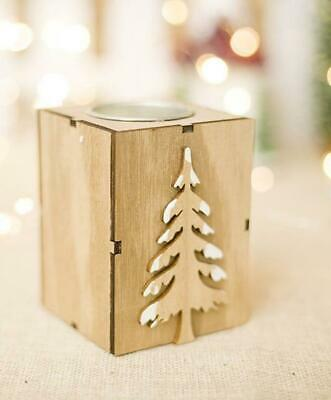 Christmas Wood Candle Holder Candlestick Table Lamp For Tea Light Decoration ...