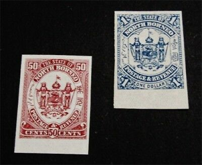 nystamps British Labuan Stamp # 64 65 Mint NG Imperf Proof