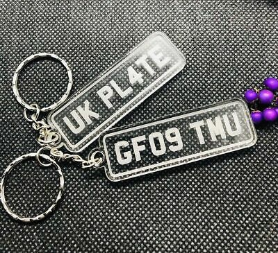 Personalised Number Plate Keyring, Your Vehicle Number or Any Text*Great Gift*