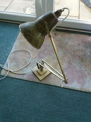 Old Anglepoise Lamp Square Step Base Gold/cream