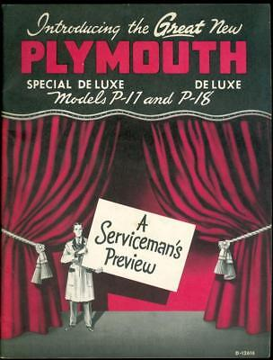 1949 Plymouth Serviceman's Preview