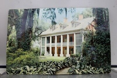 Louisiana LA New Orleans Plantation Homes Shadows Teche Postcard Old Vintage PC