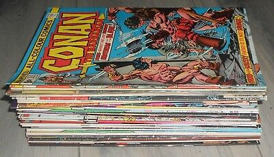 Lot Of  30  Plus ,conan The Barbarian Marvel Comics . Conan  The King