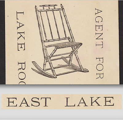 East Lake Rocker 1800's Furniture Providence RI Eastlake Victorian Trade Card