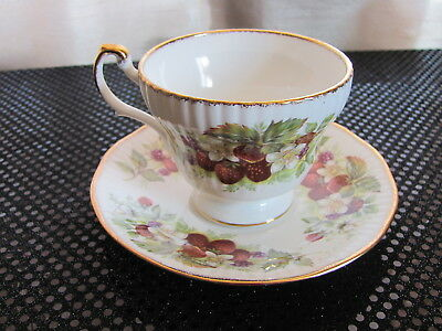 Queens Fine Bone China England - Rosina China Co. - Strawberries & Floral