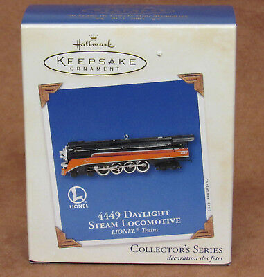 Hallmark Keepsake Ornament Lionel 4449 Daylight Steam Locomotive Diecast * New