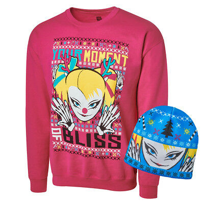 Alexa Bliss Sweatshirt+Mütze S-3XL WWE Pullover+Beanie ugly holiday Smackdown