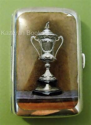 Antique Edwardian Solid Silver Enamel Trophy Cigarette Case Synyer Beddoes 1902