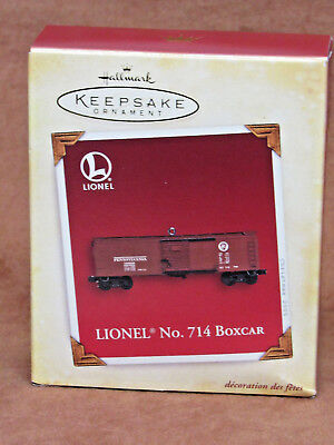 2005 Hallmark Keepsake Lionel No 714 Boxcar Ornament ** New In Box