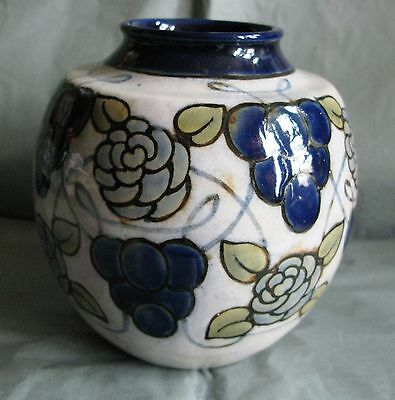 Striking Maud Bowden Antique Royal Doulton Rare Vase Vgc With An Anomaly !