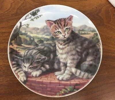 """Terrace Cat"" Cats Collection Formalities By Baum Bros 8"" Plate"