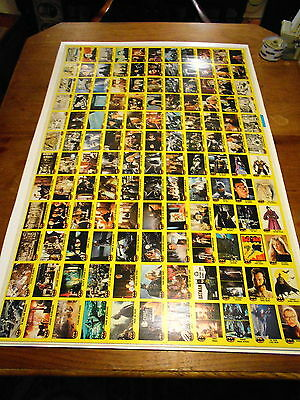 Topps 1989 Batman Trading Cards Full Uncut Sheet Yellow Border