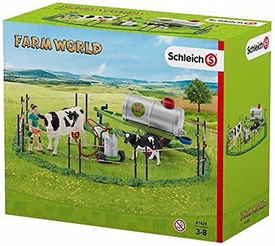 NEW In Box Schleich Farm World North America Cow Family On The Pasture Toy Set