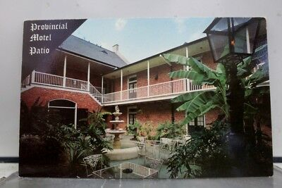 Louisiana LA Provincial Motel French Quarter Postcard Old Vintage Card View Post