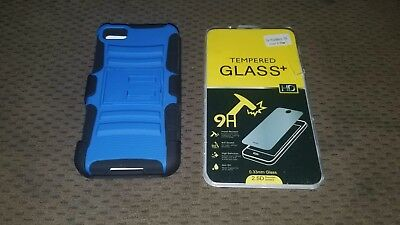 Blackberry Z10 Phone Case & Tempered Glass Screen Protector  Both NEW