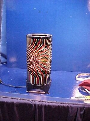 1960s PSYCHEDELIC Electric Rotating MOTION LIGHT w Colorful OPTIC DESIGN